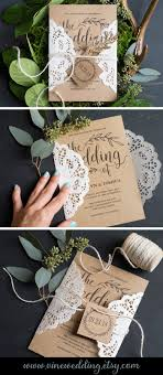 wedding invitations on a budget vintage wedding invitation rustic wedding invitation set