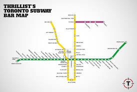 Red Line Map Toronto Subway Map With Bars For Every Stop Thrillist