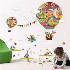 heißluftballon kinderzimmer wandtatto wandaufkleber kinder set heissluftballon kinderzimmer