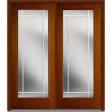 Interior French Door Home Depot Mmi Door 72 In X 80 In Heirloom Master Left Hand 1 4 Lite 4