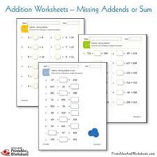 addition worksheets printables u0026 worksheets