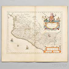 South And Central America Map by South And Central America Johannes U0026 Willem Blaeu Maps Of Brazil