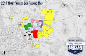 State College Pa Map by Going To Happy Valley Jam Penn State Releases Parking Details