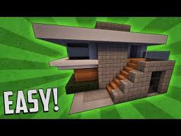 minecraft how to build a small modern house tutorial 15