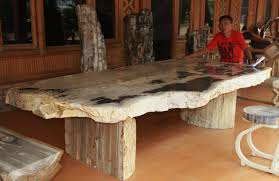 vintage petrified wood furniture home designing create classic