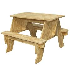 knock down picnic table plans houseworks unfinished wood quick assembly small picnic table 94701