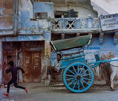 The Inner Of Beautifully Painted Houses Indian City Jodphur Captured In Beautiful Images Showcasing Blue
