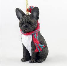 bulldog ornament scarf figurine