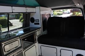 camper van layout the classic layout 2 seater vw t u2013 volkswagen t5 and t6