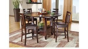chocolate dining room table chocolate brown 7 pc counter height dining set casual