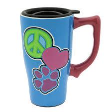 peace love paws travel mug animal rescue site