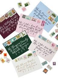 envelopes calligraphy u2014 custom wedding invitation designer and