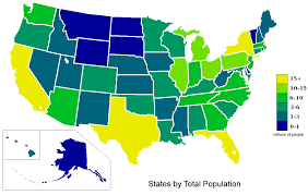 map of us states based on population tight national race freezes electoral college map rasmussen
