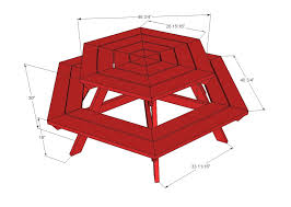 octagon picnic table plans with umbrella hole ana white build a hexagon picnic table free and easy diy project