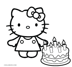 coloring page of a kitty hello kitty princess coloring page hello kitty birthday coloring