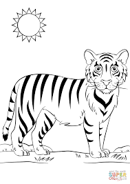coloring pages cute bengal tiger coloring pages 5tr96kjta bengal