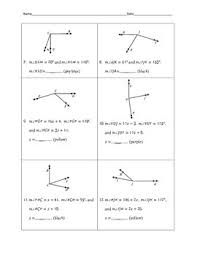 Segment Addition Postulate Worksheet Angle Addition Postulate Color By Number By Awesome Things By Dr