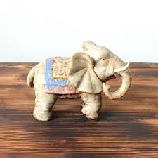 feng shui pair of grey elephant figurines lucky elephant statuette