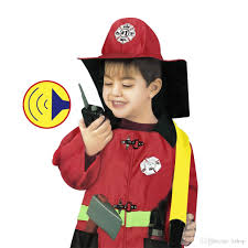 fire chief role play costume dress up set firefighter for