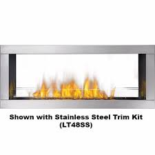 Sided Outdoor Fireplace - napoleon galaxy see thru two sided outdoor linear gas fireplace