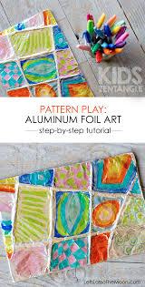 colorful zentangle art easy aluminum foil kids project