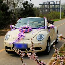 car ribbon aliexpress buy genie artificial flowers wedding car