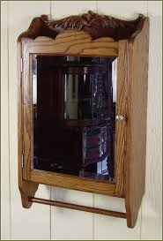 interior oak medicine cabinet with mirror art deco bathroom