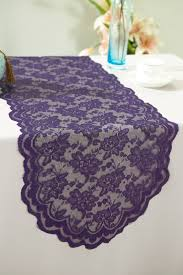 eggplant colored table linens eggplant lace table runners wedding