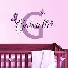 Personalized Wall Decor Aliexpress Com Buy Personalized Flowers Name Wall Decal Girls
