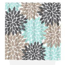 Gray And Brown Shower Curtain - best brown shower curtains with flowers products on wanelo