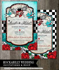 checkerboard wedding invitations rockabilly wedding invitations and rsvp offbeat wedding