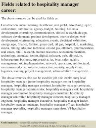 Sample Resume Of Hospitality Management by Top 8 Hospitality Manager Resume Samples