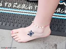 fantastic ankle butterfly design photos and ideas