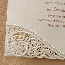 wedding invitations lace laser cut vintage lace wedding invitations flamingo