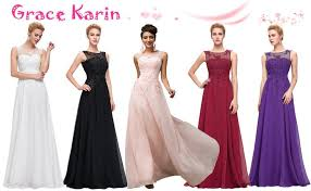 evening dresses grace karin chiffon v back evening dresses prom gown