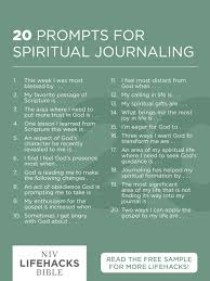 20 prompts for spiritual journaling god s word