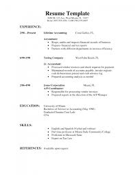 perfect resumes examples sample simple resume samples template