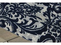 Navy Area Rugs 099446341471 Floor Coverings Nourison Damask Ivory Navy Area Rug