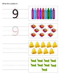 learn to write numbers math worksheets for kindergarten