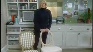 video how to recover a chair seat and back martha stewart