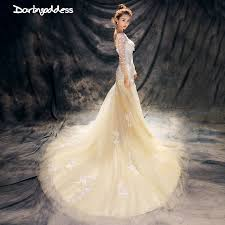 luxury mermaid wedding dresses luxury lace mermaid wedding dress chagne beading plus size