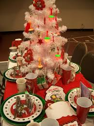 college christmas party decoration ideas themed sweet table