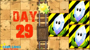 plants vs zombies 2 wild west day 29 protect magnifying grass