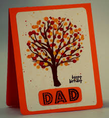 happy birthday dad fall theme handmade birthday card handmade