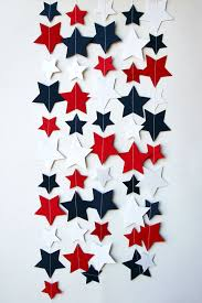 8 proud u0026 patriotic decorations star garland red white blue and