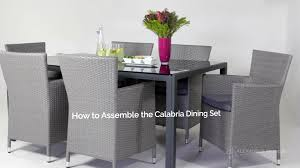 Rattan Patio Dining Set - how to assemble the grey rattan outdoor dining set youtube