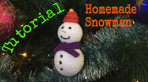 snowman christmas tree how to make a snowman on your christmas tree tutorial