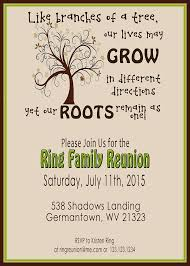 enchanting family reunion invitation cards 19 for birthday card