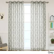 Nursery Curtain Panels by Aurora Home Moroccan Print Flax Linen Blend Grommet Top Curtain