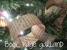 newspaper garland tutorial inexpensive shabby chic